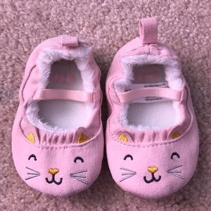 Carter's pink cat shoes